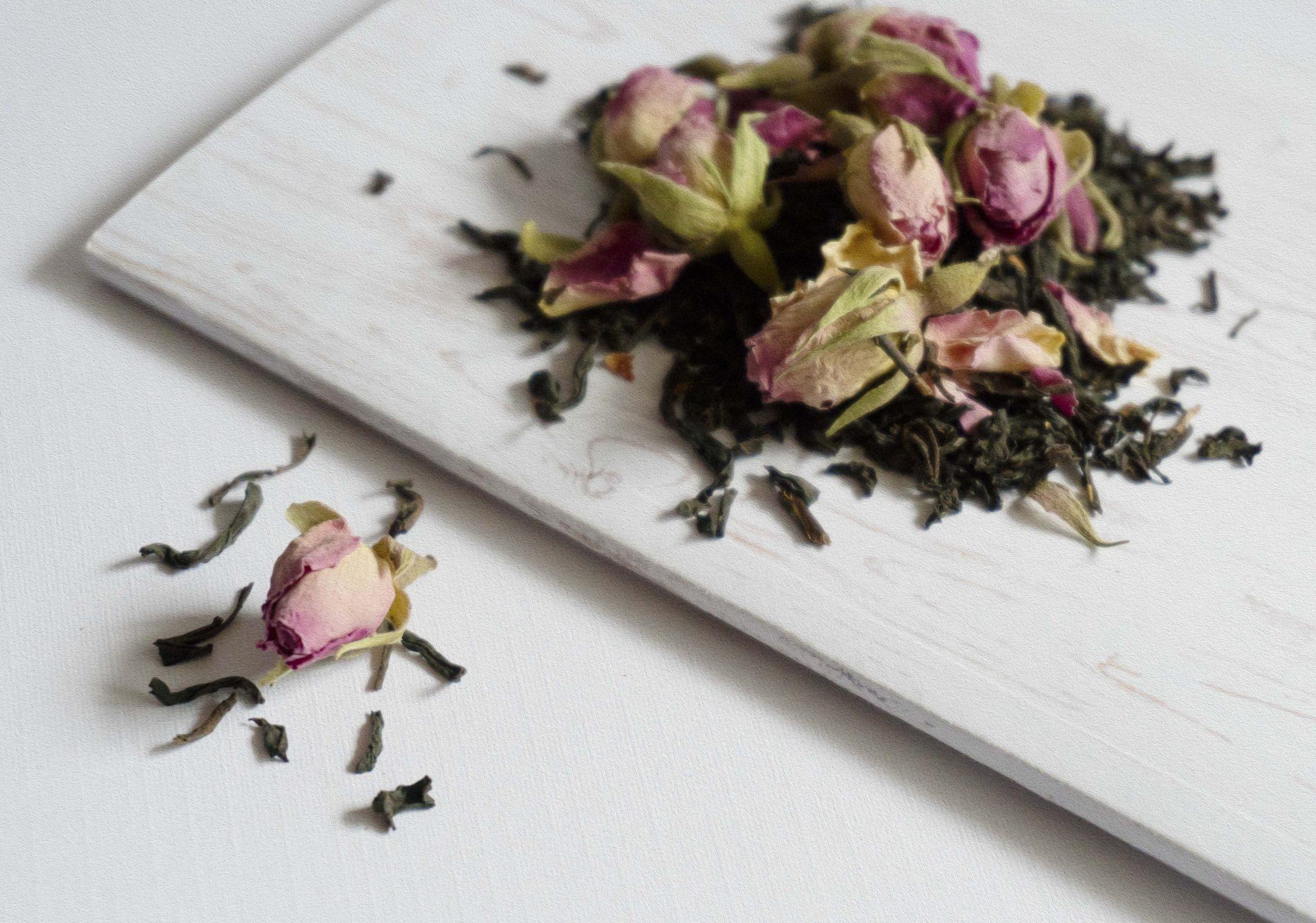 rose tea paint effect
